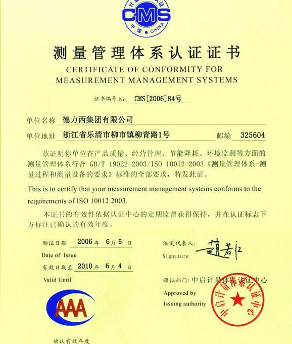 ISO1002:2003认证