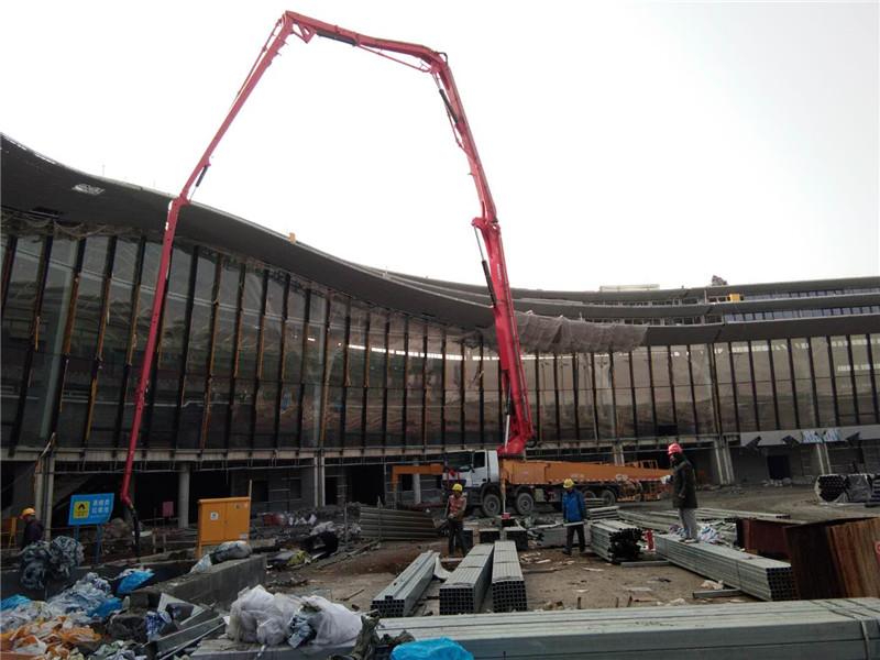 桂林機場混凝土泵送