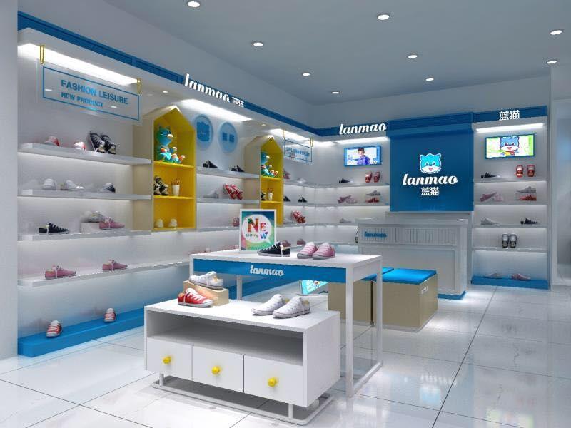 蓝猫童鞋专卖店展示