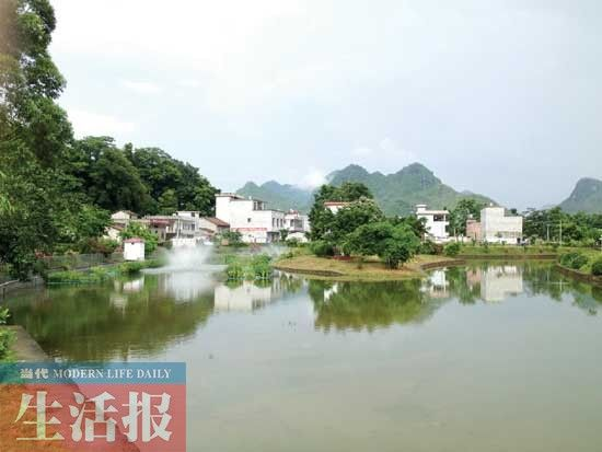 上林县东罗村纬来体育火箭比赛处理设施一角。