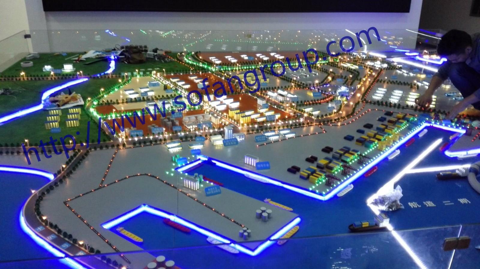 防城港北海市铁山港电子沙盘项目