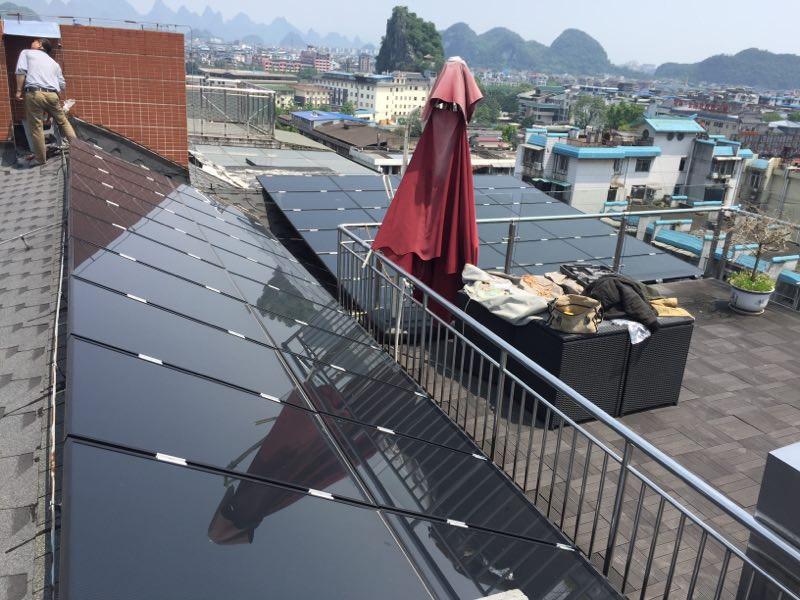 桂林疊彩華庭5KW太陽能光伏發電系統