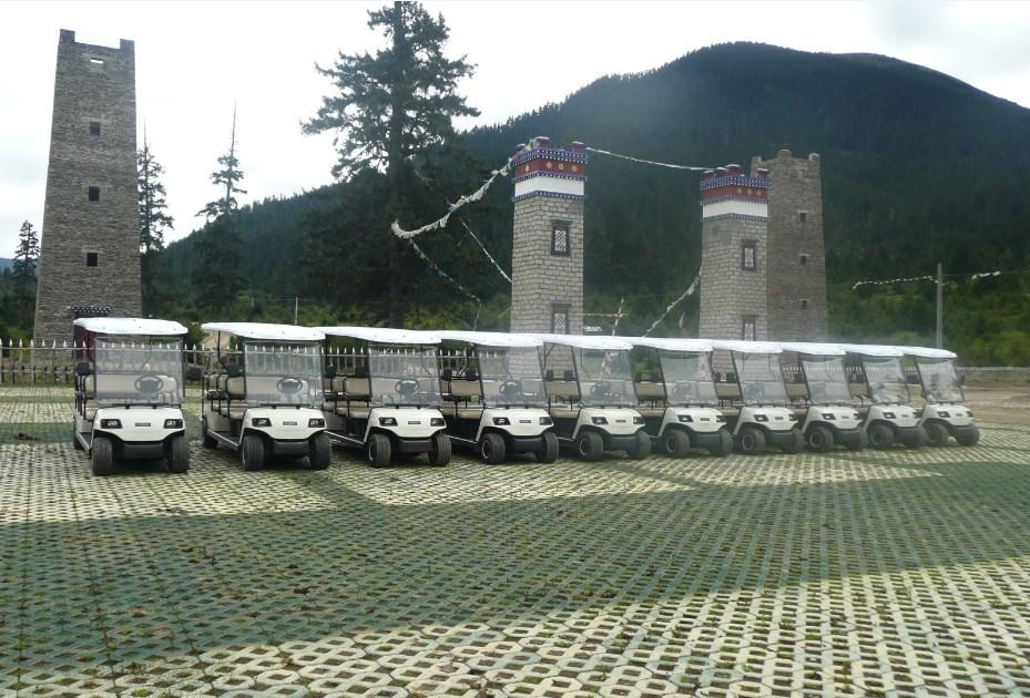 桂林悦榕庄酒店使用我司电瓶布草车