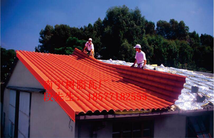 树脂瓦屋顶施工