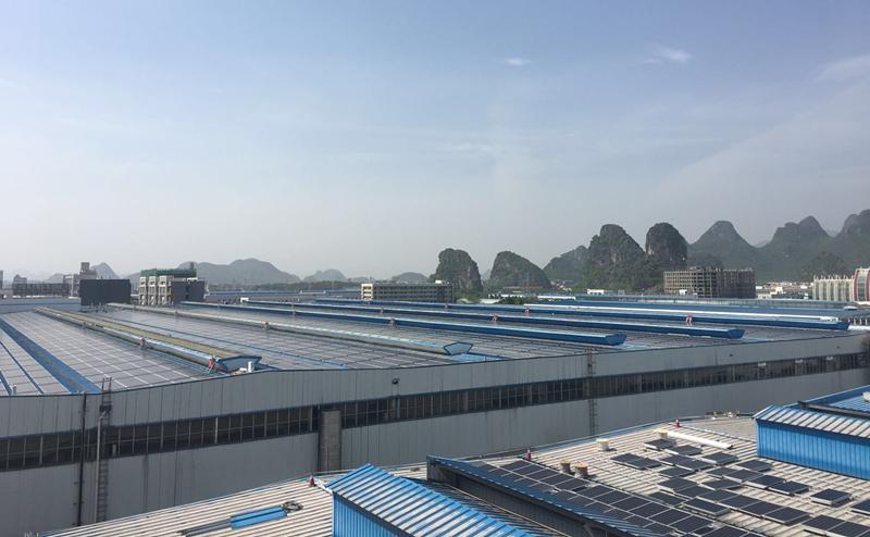 桂林国际电线电缆集团5MW光伏电站项目(施工中)