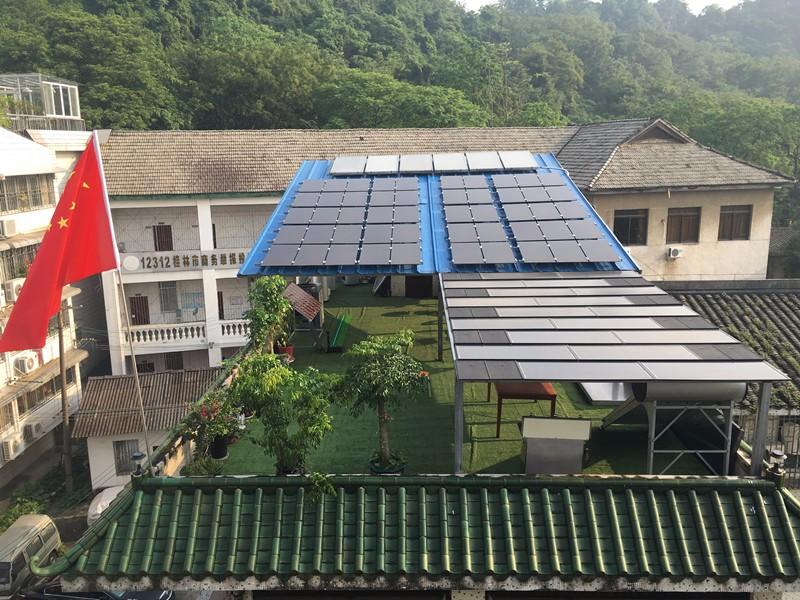 疊彩社區5.85KW光伏發電系統
