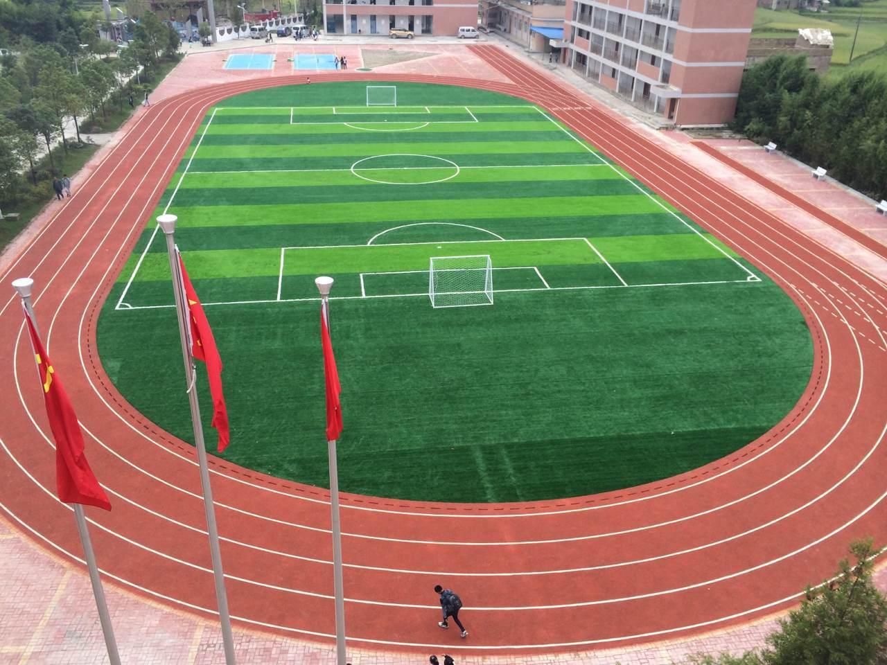 南宁塑胶跑道案例  2016广东惠州惠水县白榜中学400米混
