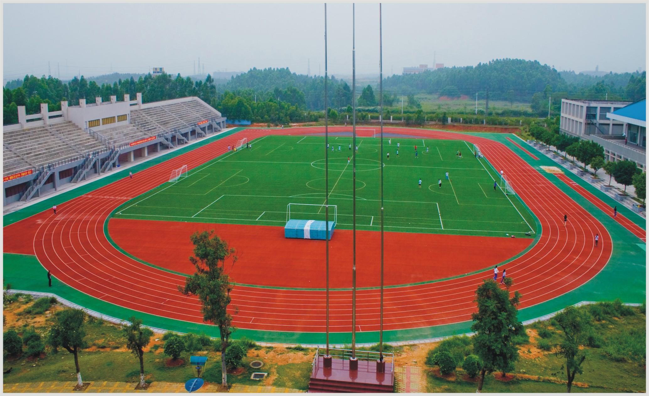 梧州塑胶跑道案例  2013广东华南师范大学南海校区 400米 全塑