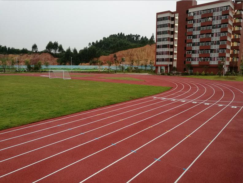 钦州塑胶跑道案例  2016广西柳州高中400米混合型