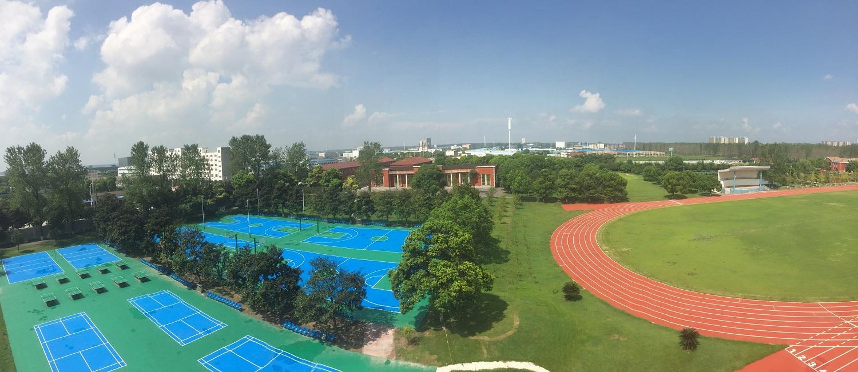 钦州硅PU球场案例  2017湖北荆州成丰学校硅PU综合运动场