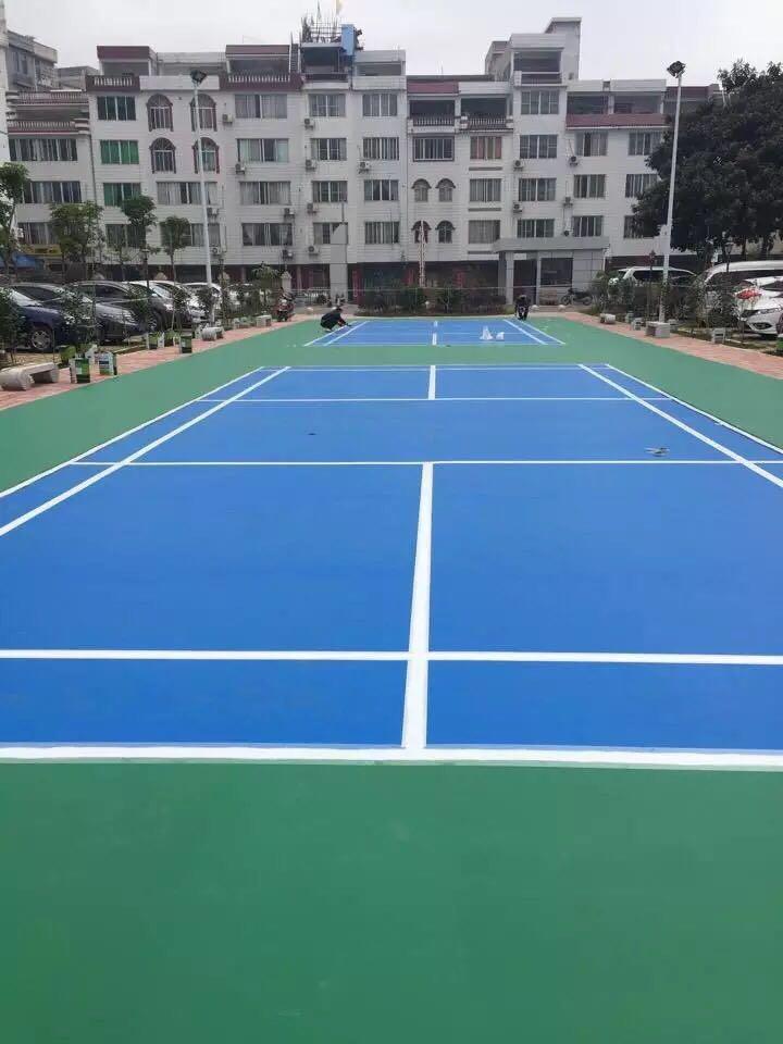 钦州硅PU球场案例  2016广西贺州国税局羽毛球场