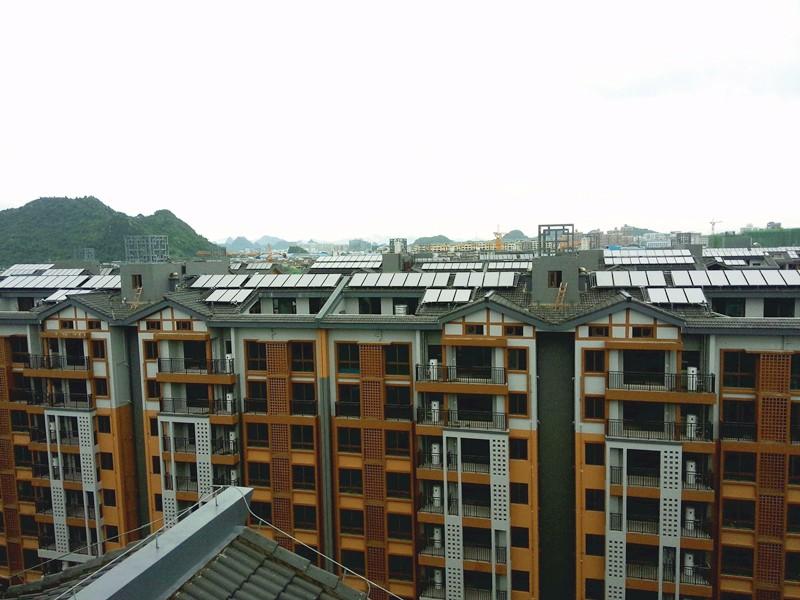 桂林彰泰春天小区太阳能热水工程
