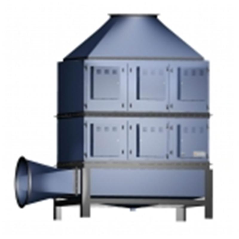 PVC人造革油煙凈化回收立式設備