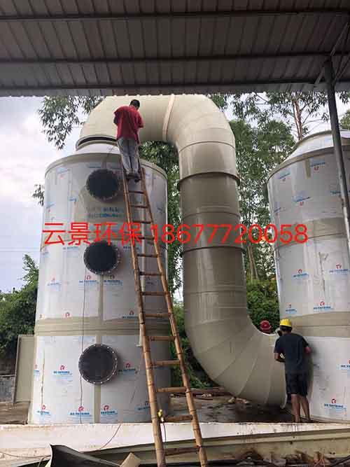 崇左桂平市新成氧化鋅有限公司安裝脫硫除塵塔
