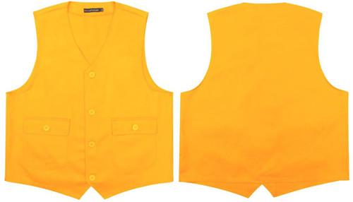 黄色有口袋马甲(盖袋)