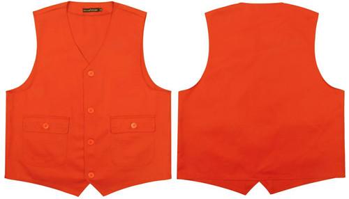 橙色有口袋马甲(盖袋)