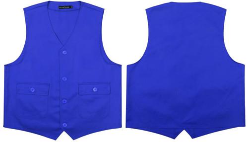 蓝色有口袋马甲(盖袋)