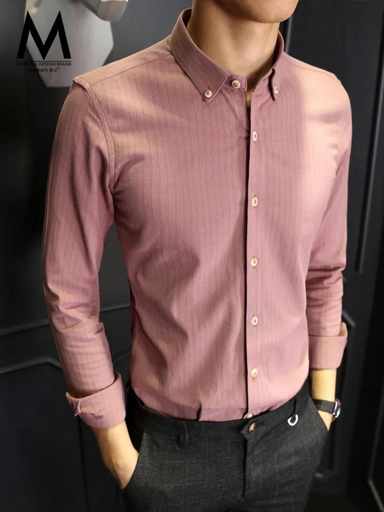 粉色时尚男衬衣