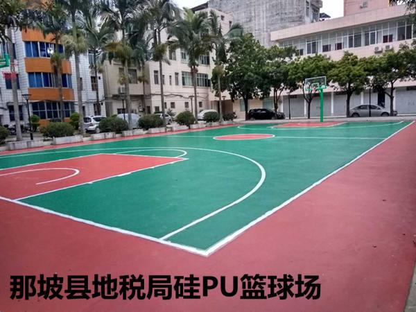 那坡县地税局硅PU篮球场