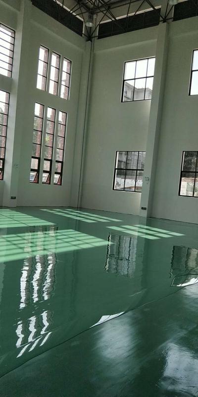 柳州三十七中学,硅pu弹性层 施工中