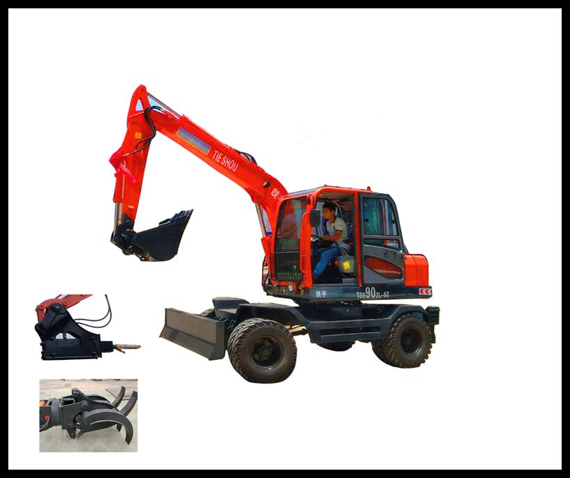 铁手铁手轮式挖掘机