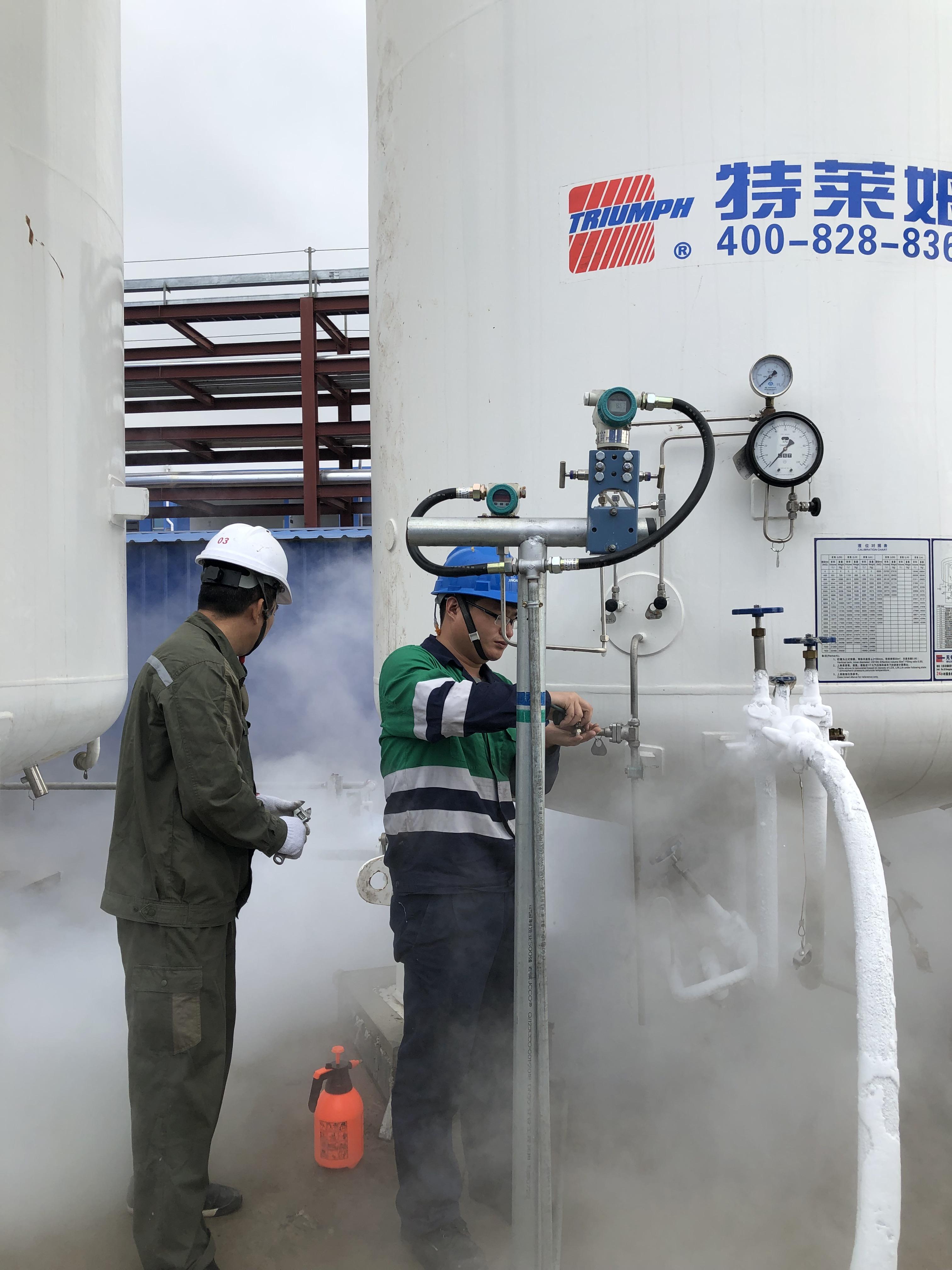 防城港越洋化工2×30m3低溫儲罐注氮