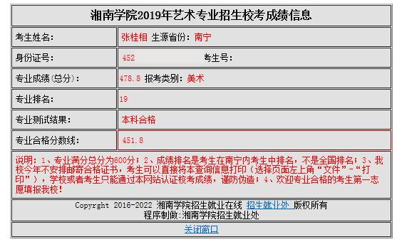 张桂相   湘南学院   第19名