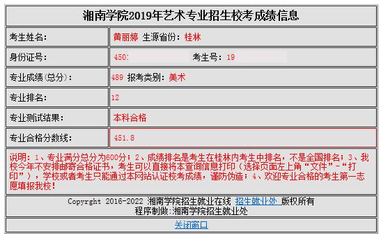 黄丽婷   湘南学院   第12名