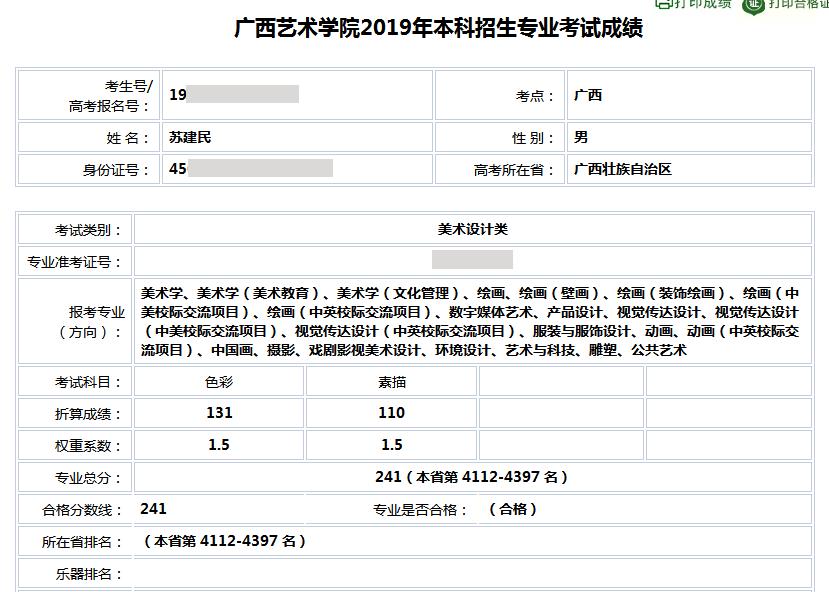 苏建民    广西艺术学院  合格