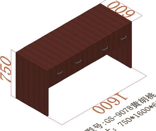 廣西美科MKBGZ-01辦公桌(660)