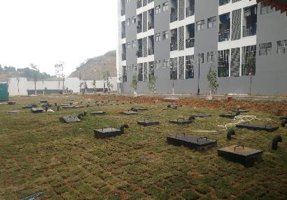 广西二轻技工学校1000吨/天生活污水处理工程