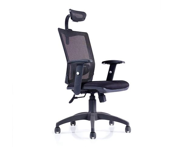 网布扶手升降旋转带头枕办公电脑椅