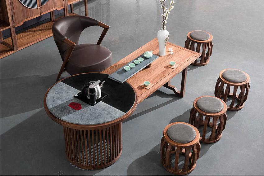 新中式古典傳統全實木茶幾配套