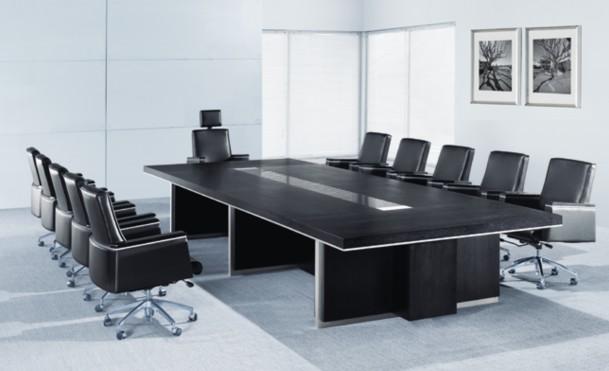 長方黑色會議桌