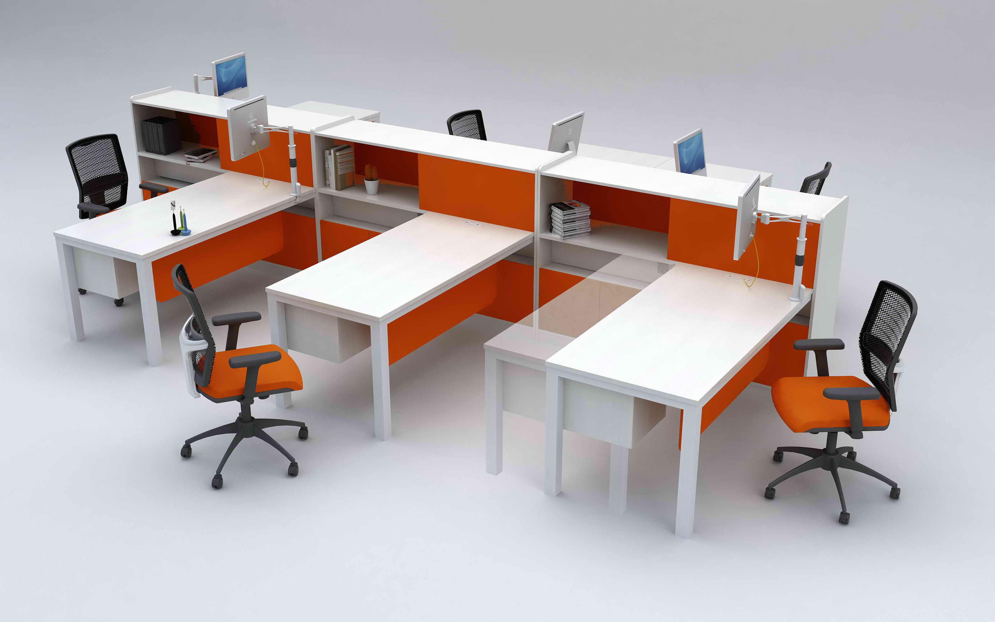 职员时尚办公桌椅
