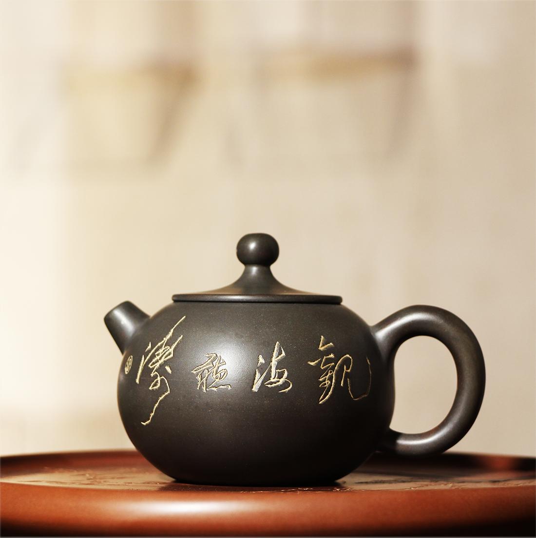 桂藝堂精品純手工坭興陶精品茶壺¥480
