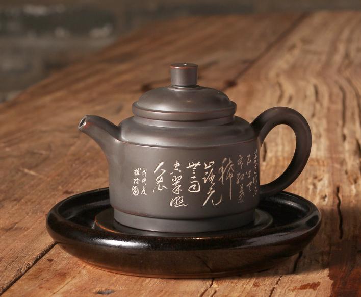 桂藝堂純手工名家收藏坭興陶李宏濤君德壺¥980