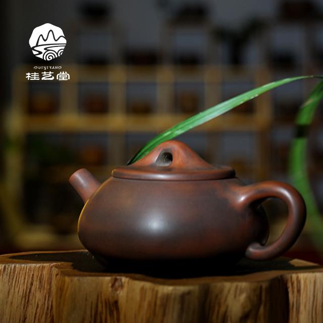 省級大師徐曉尊純手工坭興陶石瓢壺¥1380