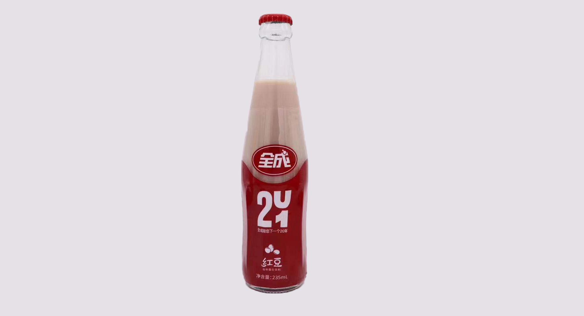 广东新全成红豆豆奶-回收瓶