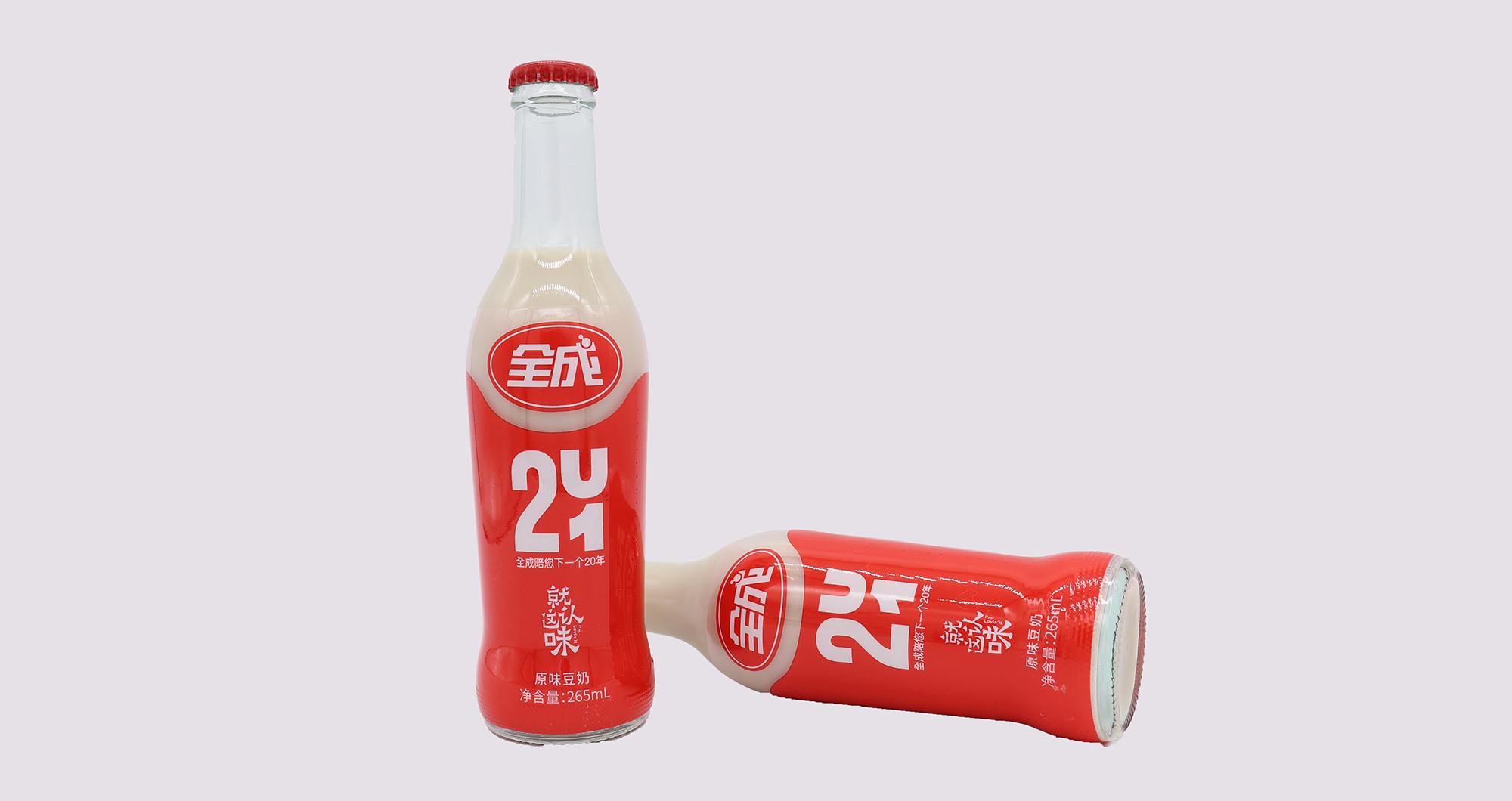 浙江新全成豆奶—不回收玻璃瓶