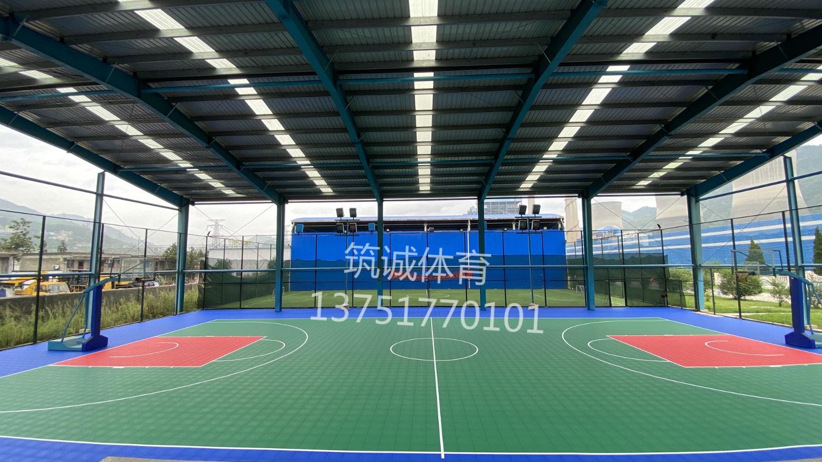 贵州电厂悬浮拼装地板篮球场