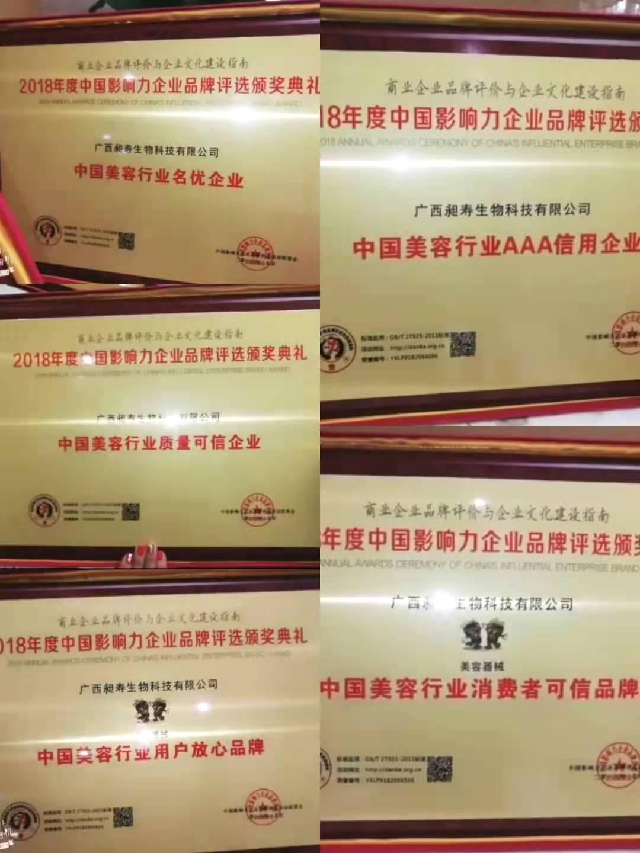 2018年度中国影响力企业评选