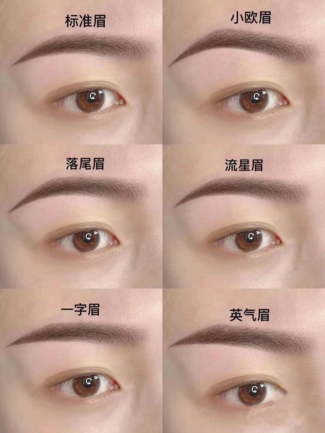 南宁纹眉类型