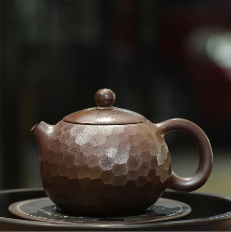 廣西桂藝堂精品純手工坭興陶精品柴燒寶石壺¥980