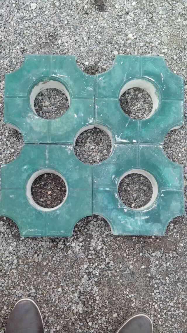 八角植草砖